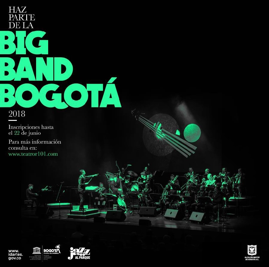 Invitacion Big Band Bogota 2018